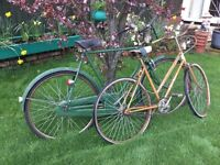 Ladies and Gentlemen's Vintage Bicycles for sale