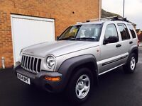 2004 54 Jeep Cherokee 4x4 2.5 CRD 79,000 Miles+FSH+ not pajero shogun 3.2 2.8 discovery defender