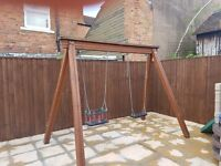 Swing set and frame