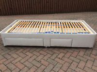 Electronic adjustable single bed with two drawers! Raises top & bottom! Great condition hardly used!