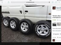 Nissan terrano alloy wheels