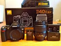 Nikon D40x 10.2 MP Digital SLR Camera - Black (Kit w/ 18-55 mm Lens) - £130 or nearest offer!