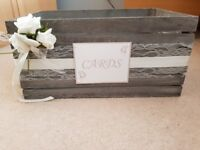 Wedding cards box and 6ft hessian table runner