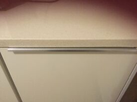 Cream Stone worktops x 2 with matching upstands