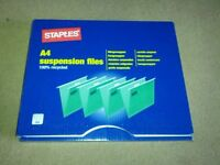 Staples A4 Suspension Files x 50 - Boxed & New