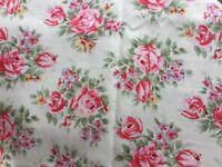 Floral curtain fabric, unused, 3.80 metres