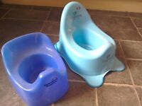 Potties X 2. Tommee Tippee + a brand New potty. Toilet training