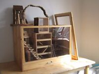 Rustic Hamster/Mice/Small Pet Cage and Playset - Luxury Hamster Home
