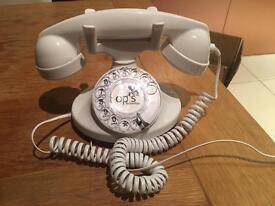 Digital finger dial telephone phone