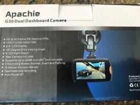 Apachie G30 Dual Dashboard Camera with 16GB Memory Card