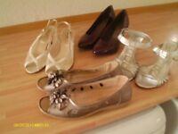 *****bundle of ladies shoes***** size 6...