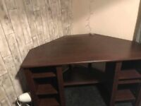 Brown ikea desk