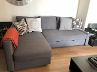 1.5 year old Sofa bed with storage for sale - moving out