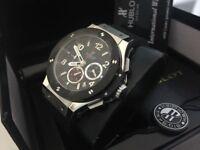 New Swiss Hublot Big Bang Silver Case Ceramic bezel CHRONOGRAPH Watch