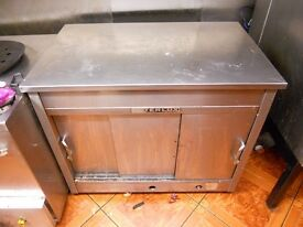 HEAVY DUTY QUALITY STAINLESS STEEL GAS HOT CUPBOARD FOR SALE WAS £1200 WAS £850 NOW £600