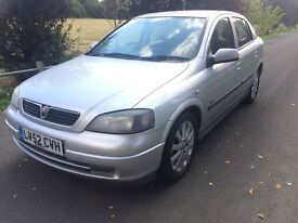 VAUXHALL ASTRA SXi 1.6 2001 '51' in Silver with MOT & Full Service History. Not Megane or Focus.