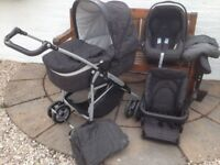 Mamas & Papas 3 in 1 Baby Travel System with accessories