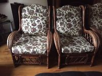 Conservatory Furniture (2 seater sofa and 2 chairs) - Very Good Condition
