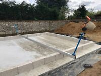Huge 5.75m tamping beam with adjustable handles (screeding, hand tamp)