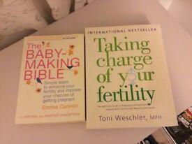 Fertility books x 2 as new