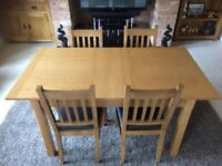 Extendable Dining Room Table With Four Chairs