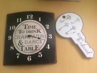 * Shabby * clock and key holder