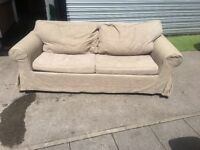 NICE FABRIC SOFA BED IN EXCELLENT CONDITION