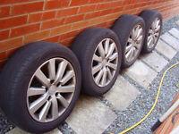 "Honda Civic 16"" Alloy wheels Toyo tyres Accord 5x114 CRZ type sport s inch r EP2 frv integra ep3"