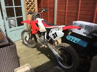 Honda cr85. In good condition. Needs new piston rings. Hence price. £550 ono