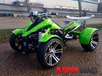 Viper 250F1 , 350 F1 SuperSnake, Green, Road Legal Quad Bikes, Brand New 2016, Spyracing 250/350 F1