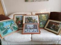 Selection of framed tapestry's