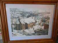 TWO JAMES MCINTOSH PATRICK FRAMED PRINTS