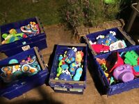 LARGE UNTESTED JOBLOT OF VTECH TOYS AND BUBBLE BLOWERS