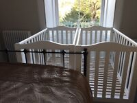 Two John Lewis White Cots - Great Condition