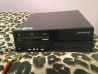 "Lenovo PC Core 2 Duo 3.0 Cpu 500 Gb Hard Drive 6Gb Memory 19"" Screen keyboard and mouse"