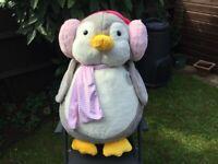 Penguin large cuddly toy