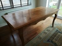 Solid wood family dining table