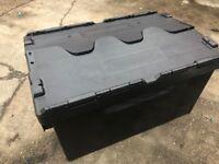 heavy duty plasic storage boxes 100 litre x 5