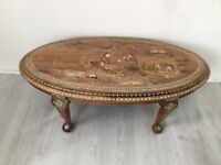 Vintage Persian hand crafted coffee table