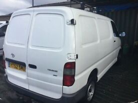 52 REG TOYOTA HIACE 4D4 IN NICE CLEAN CONDITION LOW MILEAGE DRVES SUPERB SIDE LOADING DOOR TOWBAR