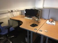 Various office desks, drawer units & chairs for sale