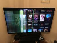 40in smart tv with stand and controller, excellent condition need screen repair
