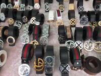 Designers belts Gucci, hermes, Versace, Ferragamo, Armani etc.