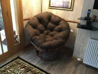 Papasan Chair , colour brown 1.6 m wide. Brand new 2 months old and never been used