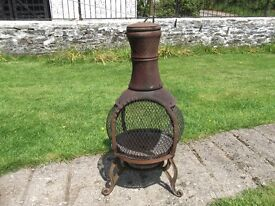 USED, CAST IRON CHIMENEA £20