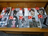 Q MAGAZINE large lot 1989 - 2004 collection 84 issues