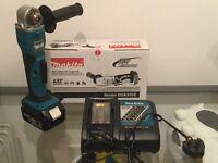 new makita 18v angle drill dda350 + 3ah +charger. Made in Japan, the thinnest! dda350z+bl1840+dc18rc