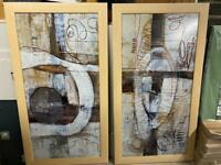 2 x extra large tailor-framed pictures