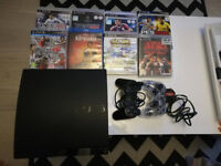 Sony PlayStation 3 Slim 320GB Black Console CECH-3003B+ 8 games, Excellent Condition!