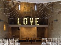 4ft Illuminated LOVE lights to hire £100